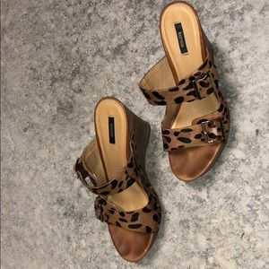 Kenzie leopard wedges